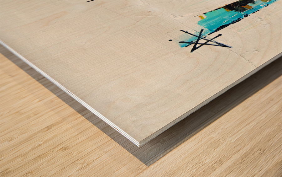 Primavera III Wood print