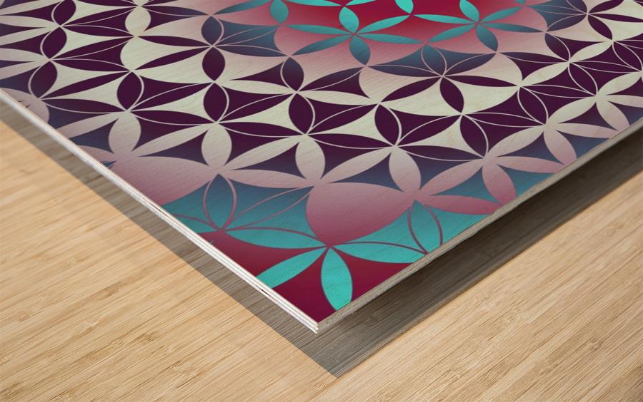 Flower of Life Hexagon Pattern Wood print