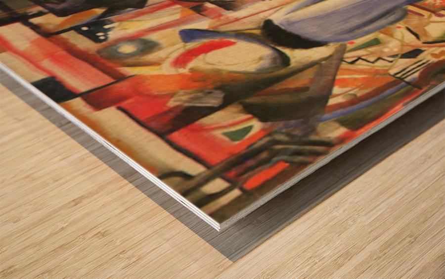 Large bright showcase by Macke Wood print