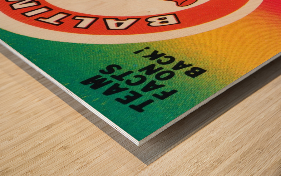 1983 fleer baseball stickers baltimore orioles wood print Wood print