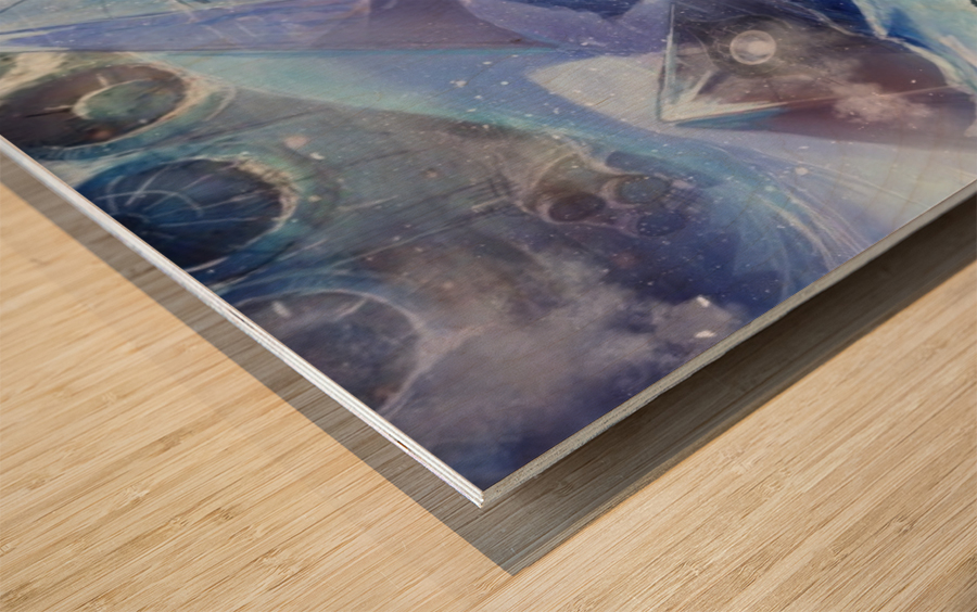Lost Antarctida Wood print