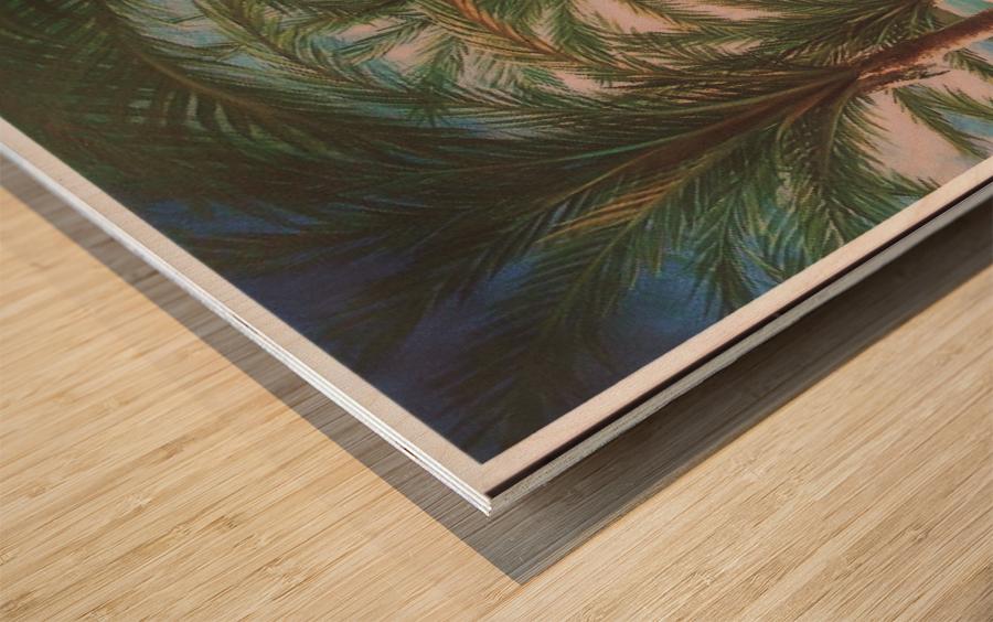 Shady beach Wood print