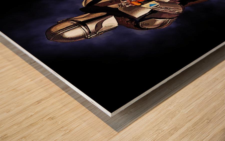 the mandalorian Wood print