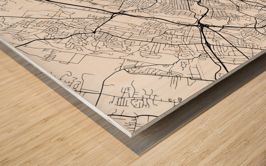 Knoxville USA Wood print