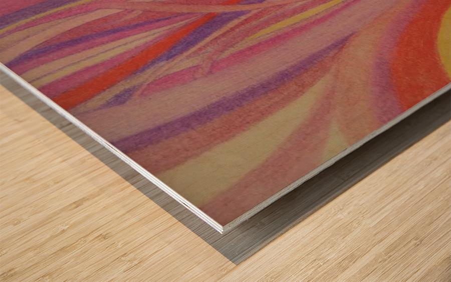 Secret Fields Wood print