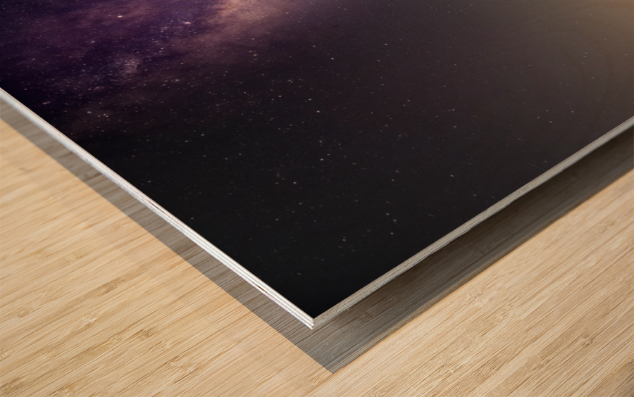 Milky Way Wood print