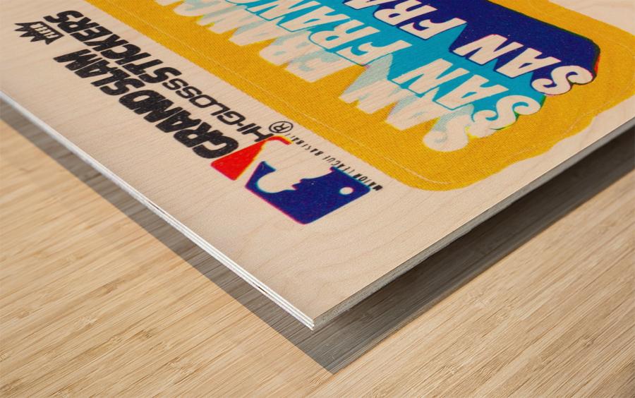 1979 fleer hi gloss san francisco giants sticker poster Wood print