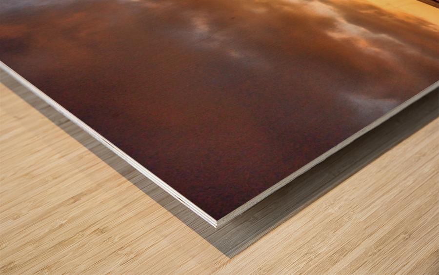 Sunrise fog your decor Impression sur bois