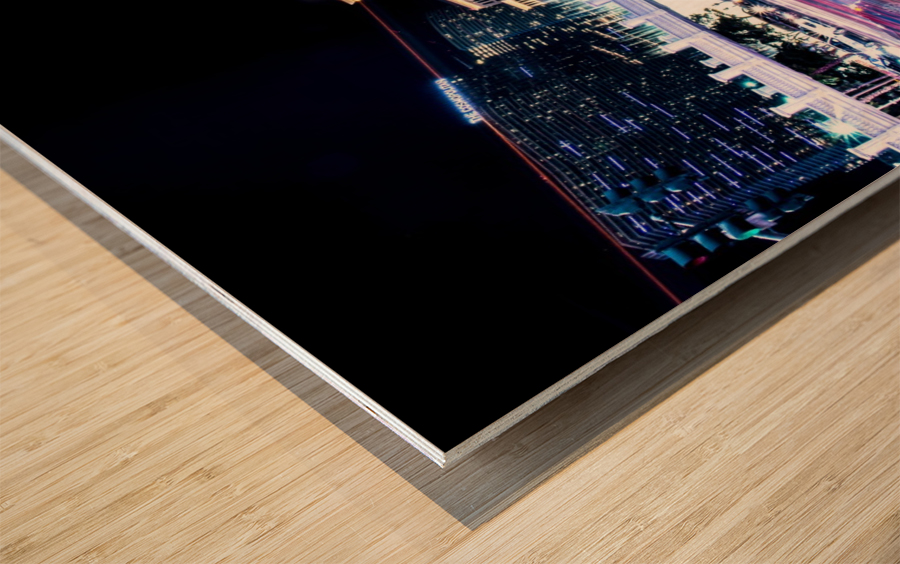 Las vegas night shot Wood print