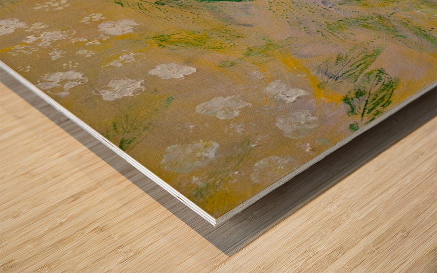 Impressions of Hydrangea II Wood print