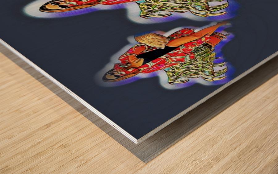 Ninja Returns Wood print