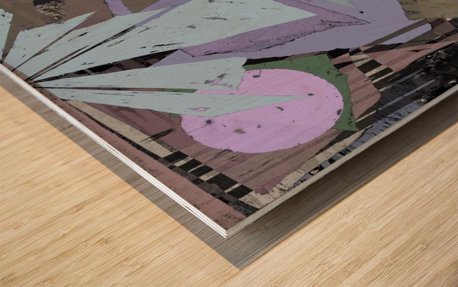 Broken window pane Wood print