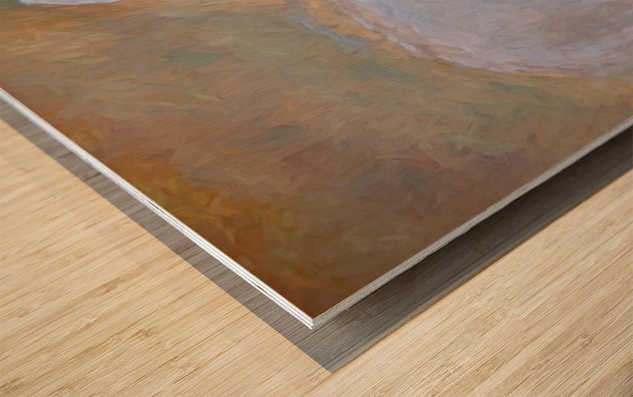 LLama Wood print
