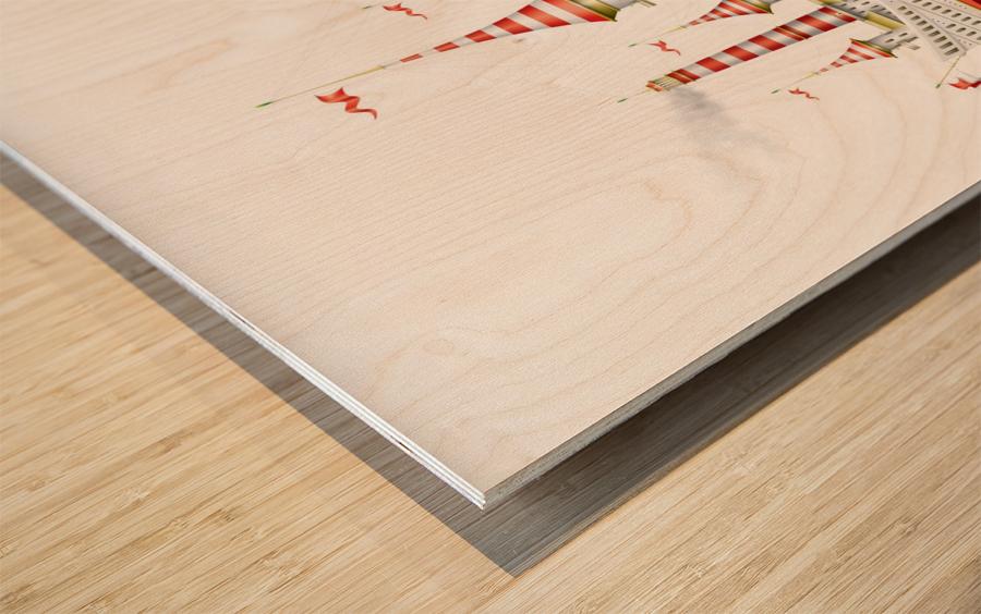 Crocciere Caravelle Wood print