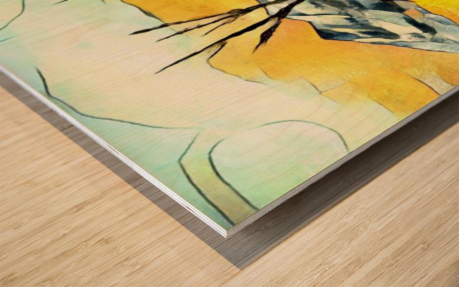 Hot summer in Erda Wood print