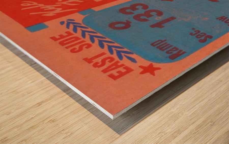 1961 texas am aggies football ticket wall art Wood print