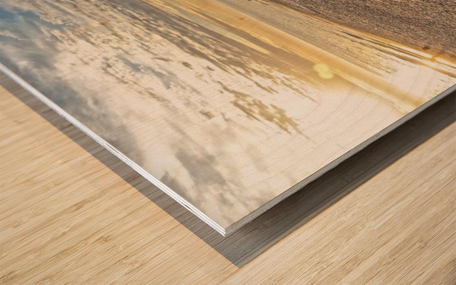 Oak Island Pier View Wood print