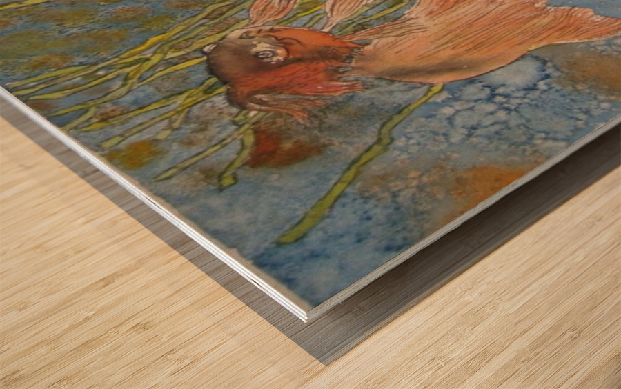 Fish 2 Wood print