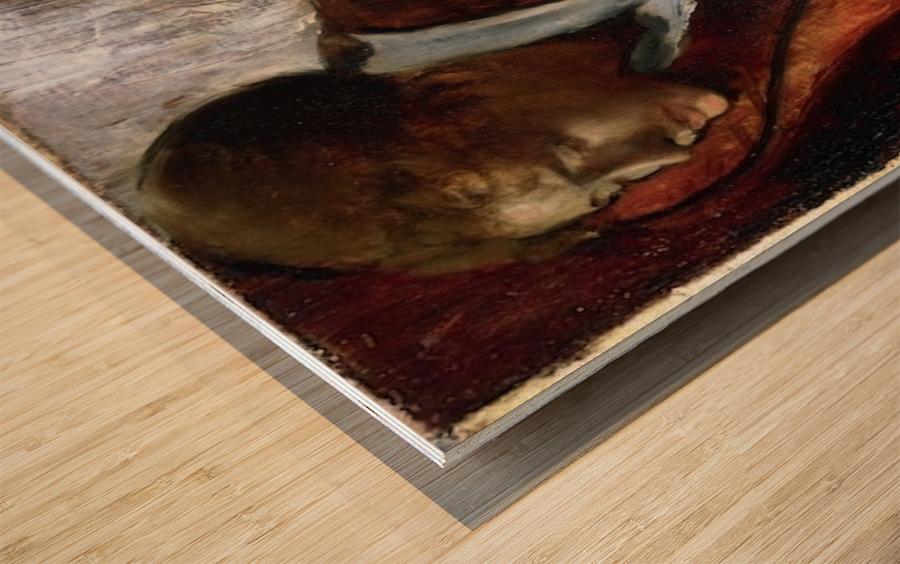 Melancholy by Degas Wood print
