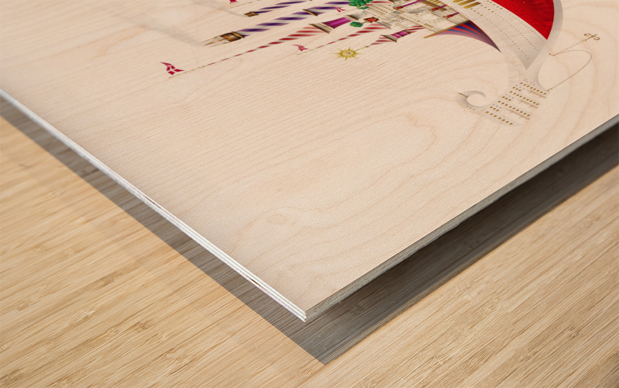 Crocciere Gondollino Wood print