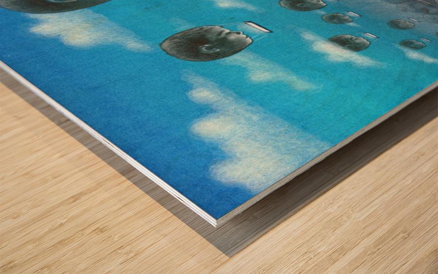 odloty Wood print