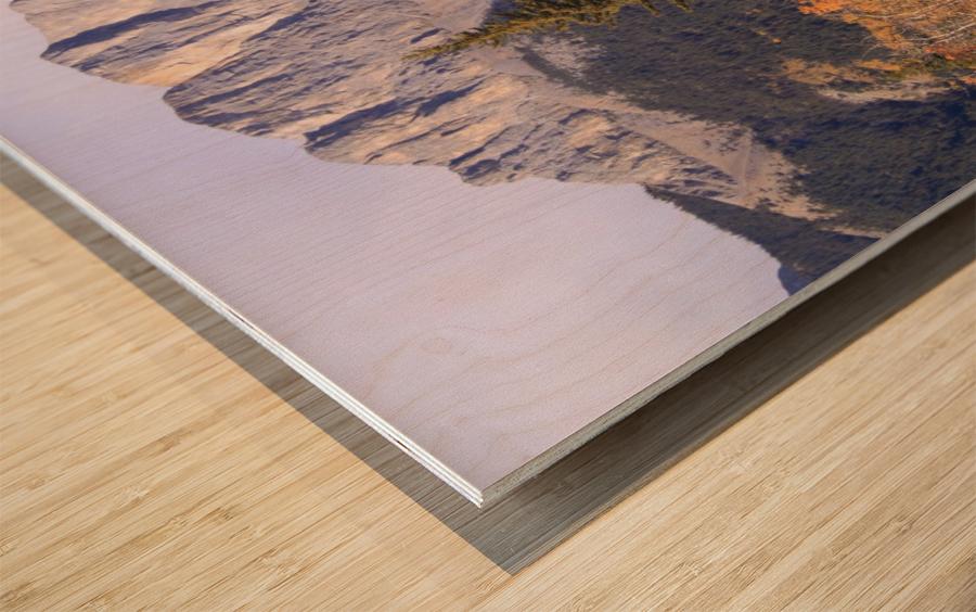 Yamnuska In Fall IMG_3238_1  Wood print