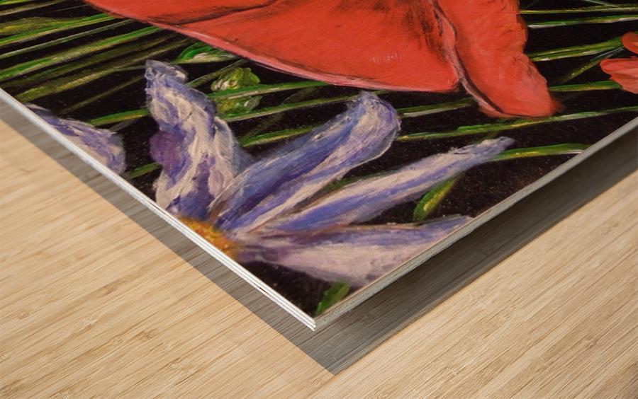 Folding Poppy Wood print