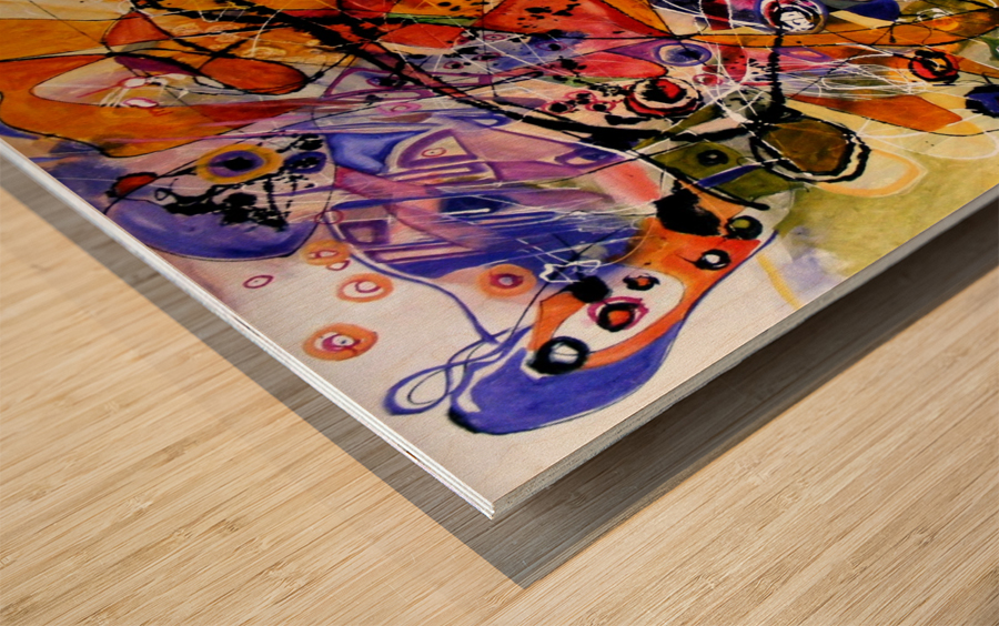 fantoma de la opera Wood print