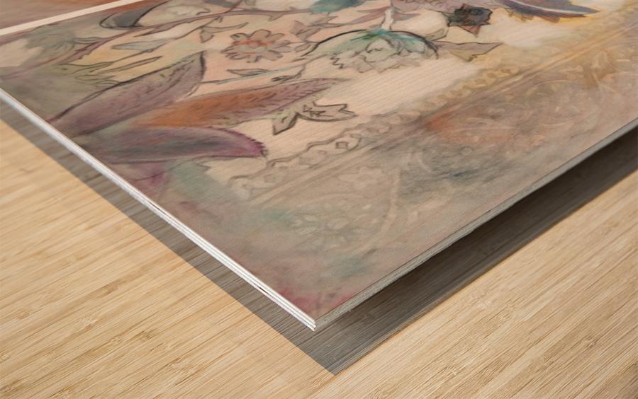 Riverton Wallpaper Tracings Triptych Wood print