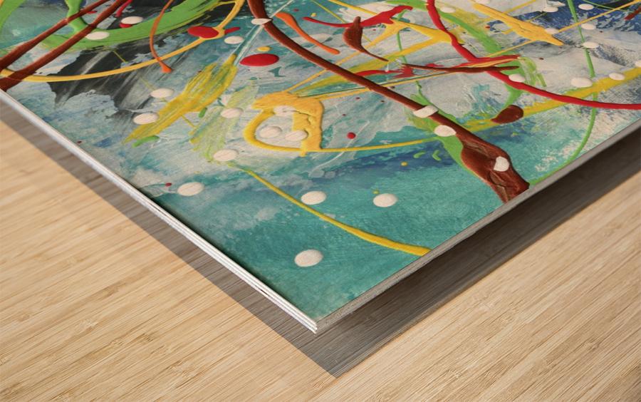 Colour Carnival III Wood print