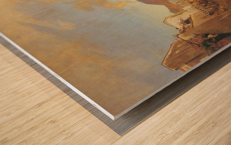 View of Naples Wood print