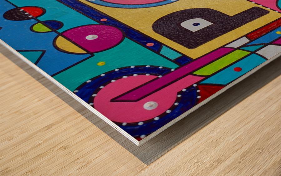 POW FOUR IN PLASTIC Wood print