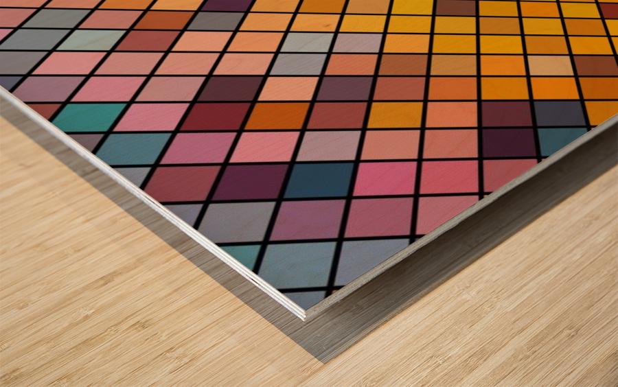 Mosaic Pattern Wood print
