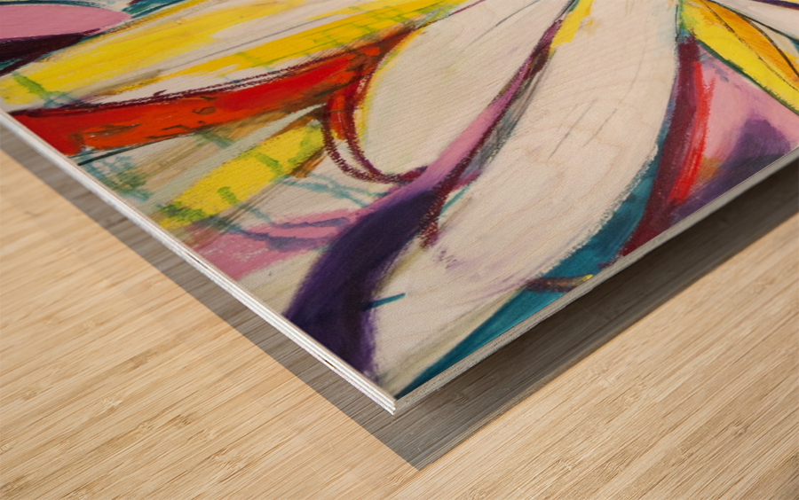 Louisiana Zinnias Triptych Panel III Wood print