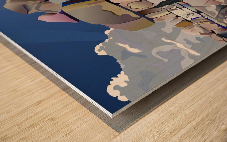 Earth Bound Wood print