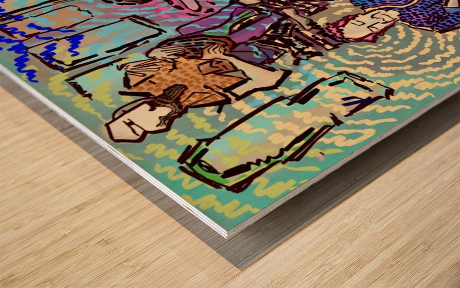Rhythm Flow Wood print