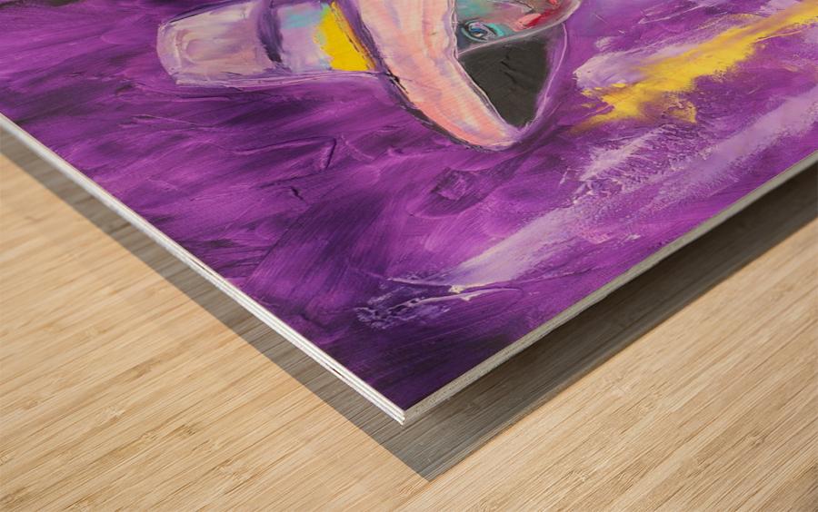 Woman in violet Wood print