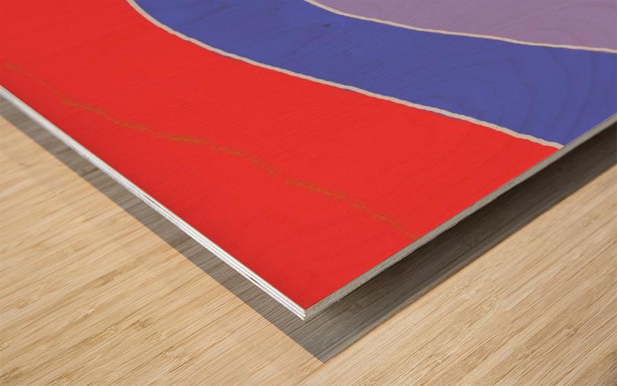 The Zone Wood print