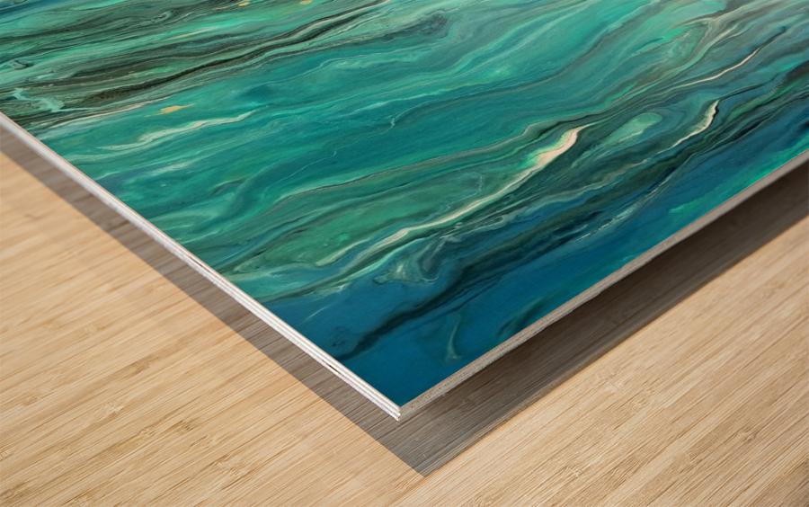 Ocean Ripple Wood print
