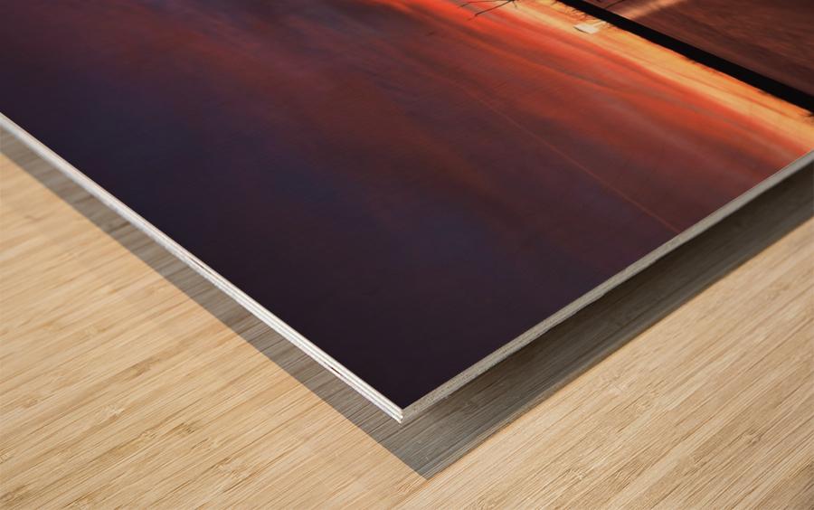 Lake Wellington Sunset Wood print