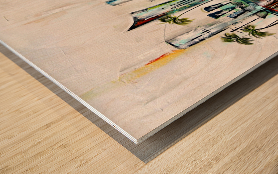 Uptown XXVII Wood print