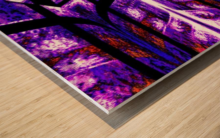 Lotus In Glow 14 Wood print