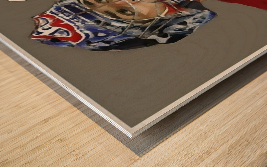 Carey Price portrait Wood print