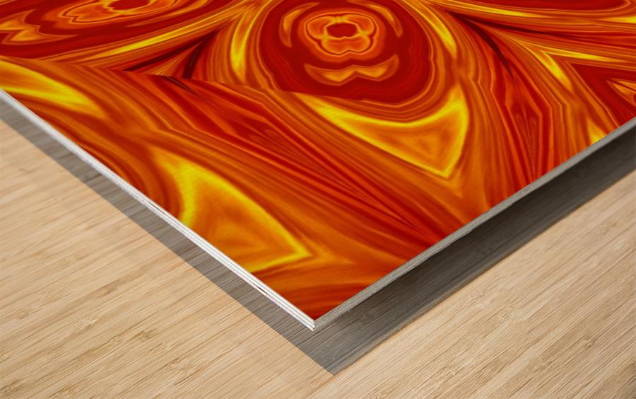 Fire Flowers 53 Wood print