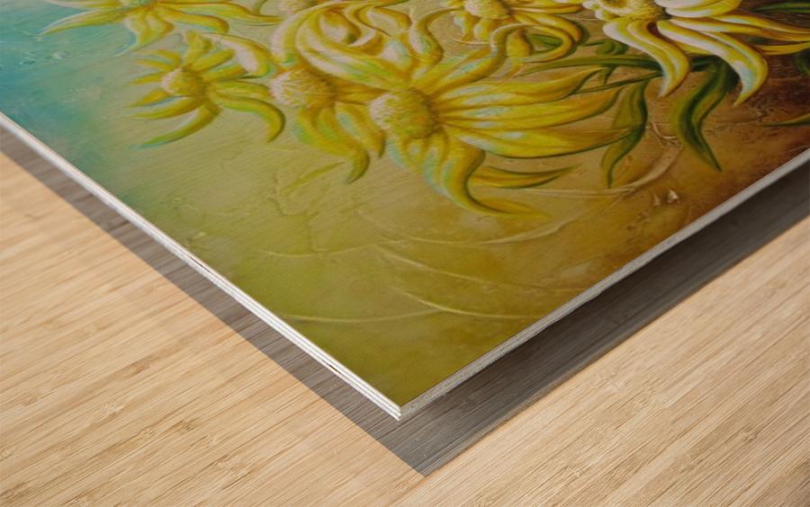Splash of summer Wood print
