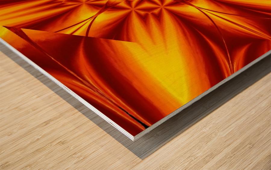 Fire Flowers 104 Wood print