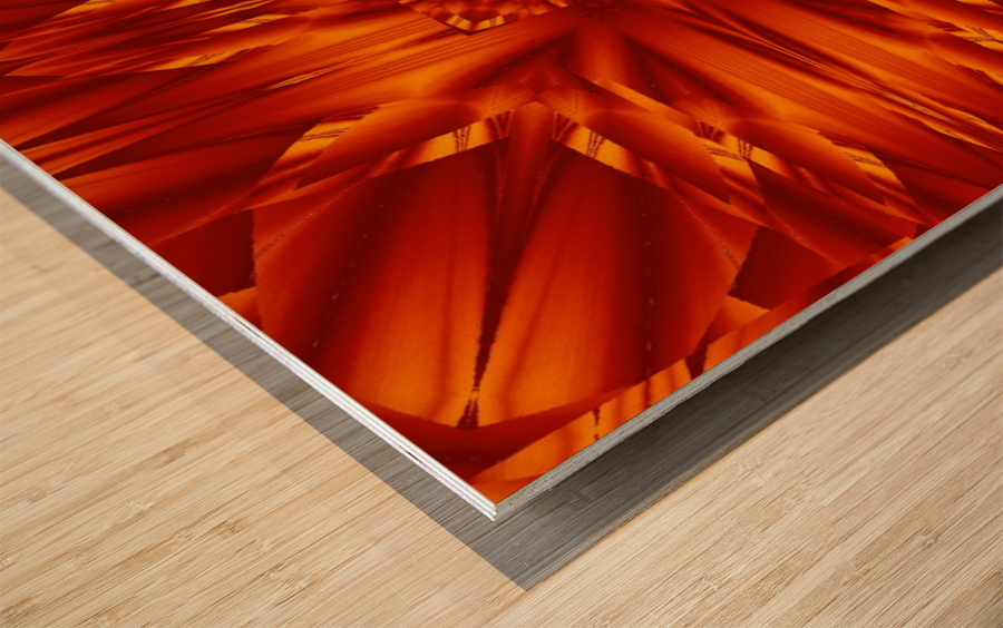 Fire Flowers 190 Wood print