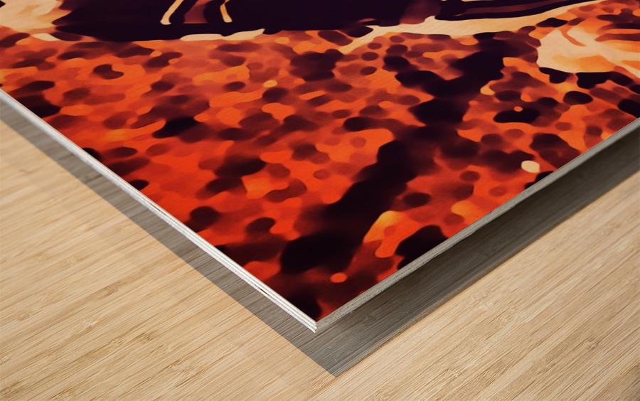1982 Bo Jackson Tennessee Dive Wood print
