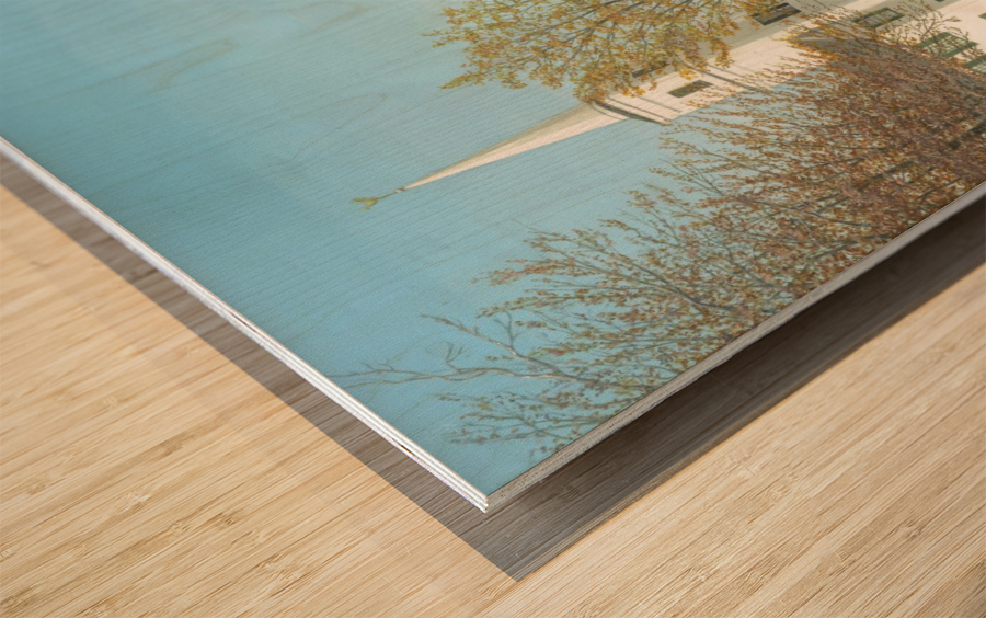 October Sunday - Newtown Scenes 24X30   Wood print