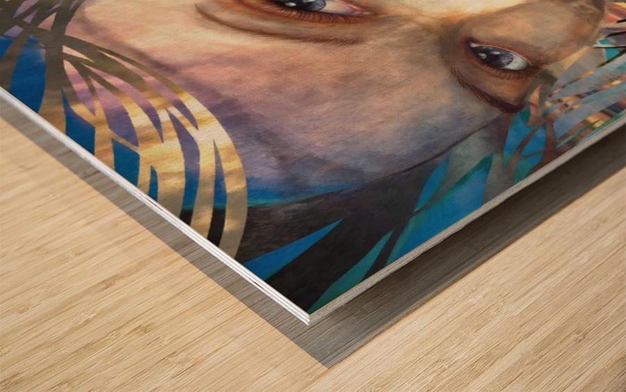 GOLDEN SUNRISE Wood print